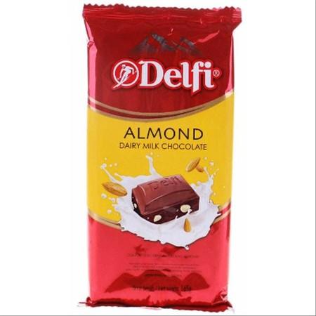 Delfi Almond 15 gr merupakan produk cokelat Delfi Indonesia yang dipersembahkan untuk menemani kamu yang senang menikmati cokelat di sela waktu bekerja atau waktu luang Cokelat Delfi ini telah dicampur dengan susu dan kacang almond yang bersatu untuk menc