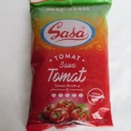 Produk saus dengan aroma dan rasa dari tomat, yang dibuat dari bahan-bahan terpilih.  Cocok bagi Anda yang menyukai rasa tomat yang segar dan Sasa saus tomat cocok sebagai bahan cocolan, teman makan, campuran memasak.  Dapat dikonsumsi dengan beragam jeni