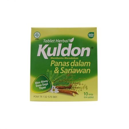 Kuldon Sariawan di produksi oleh PT. Deltomed Laboratories dan telah terdaftar pada BPOM. Kuldon Sariawan dapat digunakan untuk meredakan sariawan, panas dalam, dan sakit teggorokan. Kuldon Sariawan mengandung daun saga, bunga krisan dan alang-alang yang