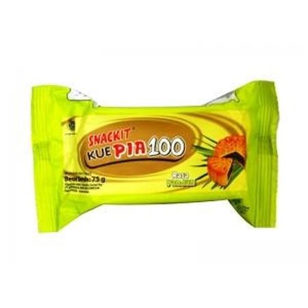 Snack It pia 100, kue pia tradisional dengan packaging modern, cocok sebagai cemilan antara waktu makan. Juga tersedia kemasan mini pack dengan packaging dan bentuk kue doraemon. Varian Rasa Pandan