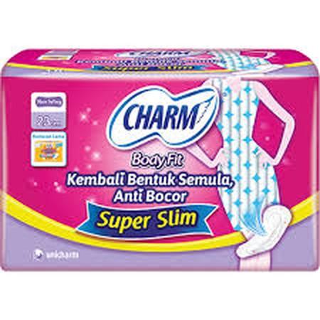 Charm Slim Protect+ Wing merupakan pembalut wanita yang nyaman tidak mengganjal serta kering sekitika, anti bocor.