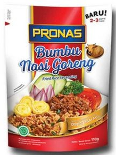 Pronas Fried Rice Seasoning Comes With Different Flavour, Complete With Bacon And Sausage. With Practical Packaging Aluminuim Foil And Natural Raw Materials, Spices Fried Rice Is Served For Two Servings.
