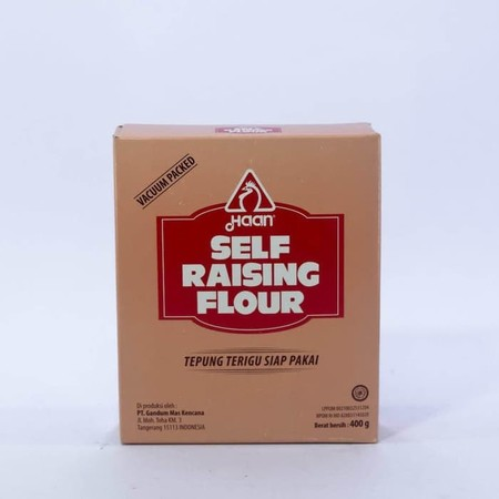 Special flour with leavening agent. Users are enabled to make product without adding up baking powder. This product also suitable to make pastry products with crunchy texture. Suitable for cake, cookies, deep frying, multi purpose flour