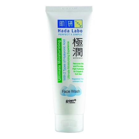 Hada Labo Ultimate Moisturizing Face Wash merupakan sabun pembersih wajah yang mengandung 2 jenis Hyaluronic Acid. Mampu mengangkat kotoran serta minyak di kulit wajah.