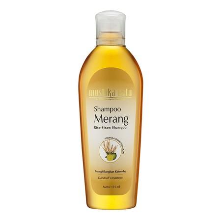 Mustika Ratu Shampoo Merang merupakan Shampoo yang Mengandung merang, ekstrak jeruk nipis, dan climbazole Membantu menghilangkan ketombe dan Membantu menghilangkan gatal-gatal