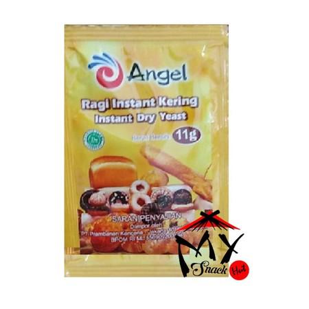 Angel Ragi 11gr merupakan ragi instan premium dengan kemasan sachet yang mudah untuk digunakan sebagai bahan membuat adonan roti. Angel ragi instant yang sudah dipercaya, bagus untuk roti atau pastry, terutama untuk roti bebas gula, seperti roti Eropa den