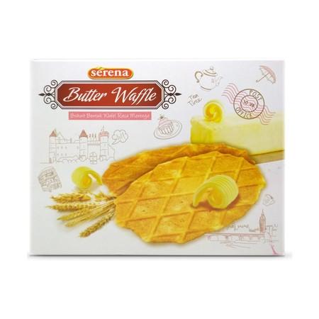 biskuit wafel rasa mentega yang cocok disantap bersama kopi, es krim atau capuccino.