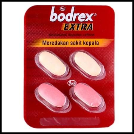 Segera redakan sakit kepala Anda dengan meminum bodrex Extra Kaplet 4's karena mengandung paracetamol, ibuprofen yang menghilangkan rasa nyeri.Obat sakit kepala bodrex Extra Kaplet 4's menjadi pilihan untuk Anda meredakan rasa sakit kepala yang begitu nye