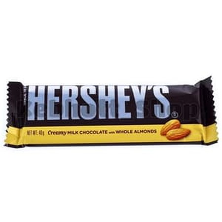 Hersheys Milk Chocolate Bar with Almonds are more than just candy bars. Theyre chance to stop and savor lifes sweeter side, so stock up, enjoy, and even share, these delicious bars of milk chocolate with roasted almonds.