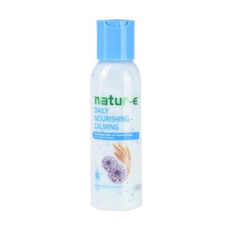 natur-e Daily Nourishing Calming Hand & Body Lotion [245 mL] merupakan produk Natur E yang diindikasikan untuk kulit sensitif karena mengandung lebih banyak pelembab. Mampu mengatasi kulit kering yang mudah teriritasi dan merah. Natur E Daily Nourishing -