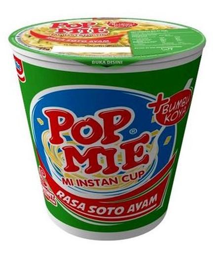Pop Mie Merupakan Mi Instant Dalam Cup Dapat Disajikan Dengan Menyeduh Air Panas.