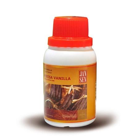 Vanilla extract. kwalitas import. made in germany. kemasan 1 liter Sangat wangi, dan cocok untuk segala macam kue, puding, vla dll Digunakan dalam adonan kue atau pastry. masukan 1 sendok teh vanilla extract untuk 1 kg adonan