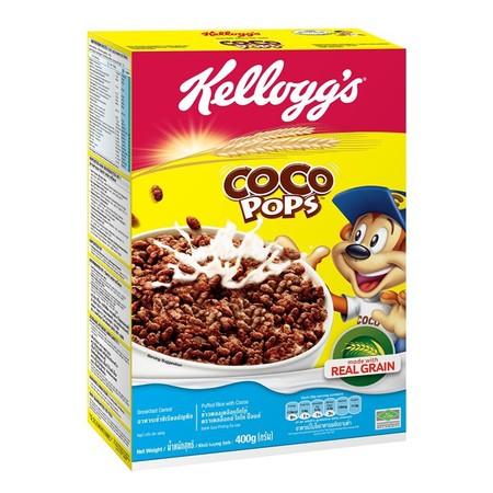 Kellogg'S Coco Pops Sereal [400 G] Merupakan Sereal Terbuat Dari Beras Berkualitas Dan Kakao Asli Untuk Sarapan Pagi Yang Lezat Dan Renyah. Sereal Ini Berisi 8 Nutrisi Penting (Vitamin A, B1, B2, B3, B6, B9, C, Dan Zat Besi) Untuk Kebutuhan Tubuh. Jadi Ti