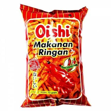 OISHI Spicy Cracker Udang 70gr merupakan produk cemilan cracker dari OISHI. Spicy Cracker ini memiliki rasa yang enak dan lezat membuatnya cocok untuk dijadikan cemilan. Selain itu, produk ini ideal dinikmati bersama keluarga.