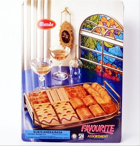 Monde Favourite merupakan biskuit dengan kombinasi berbagai rasa yang dikemas praktis. Terbuat dari bahan berkualitas, ideal menemani saat santai Anda bersama teman maupun keluarga. Rasanya renyah dan sangat digemari oleh semua usia.