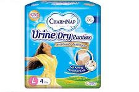 CharmNap Urine Dry Panties - Anti Basah, Anti Bocor Panties untuk inkontinensia ringan, tetap percaya diri dan bebas menikmati hari tanpa khawatir bocor. Gel Kering Penyerap Urine Menyerap banyak urin, membuat tetap kering, kulit senantiasa halus Ban Ping