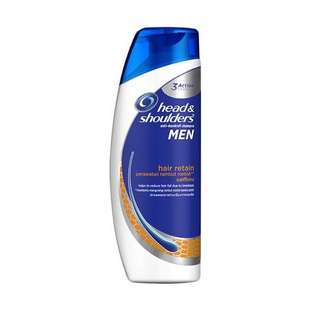 Head & Shoulders Shampoo Hair Retain merupakan shampoo yang Membersihkan dan menyegarkan, formula pembersihnya membantu membersihkan rambut dan kulit kepala untuk rambut tampak indah dan kuat.