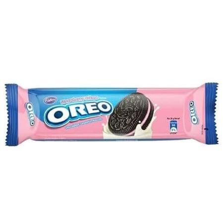 Oreo Strawberry 133gr merupakan snack biskuit Oreo dengan kelezatan krim Strawberry yang tebal dan lezat dalam biskuit yang akan memberikan kenikmatan dalam setiap gigitannya. Ideal dinikmati saat santai bersama keluarga atau cemilan saat sedang bepergian