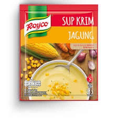Royco Sup Krim Jagung dibuat dengan bahan berkualitas dari alam, menjadikan sup lezat dan nikmat. Mudah dimasak dan siap disajikan dalam 5 menit.