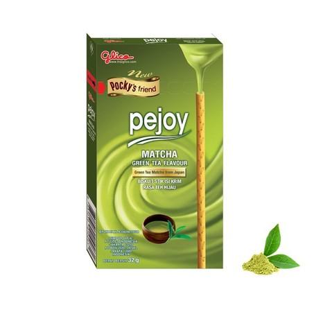 Glico Pocky Pejoy Matcha 32Gr Glico Pocky Pejoy Matcha 32Gr MerupakanBiskuit Stick Ini Memiliki Perpaduan Rasa Matcha Yang Tebal Sehingga Sangat Cocok Untuk Dikonsumsi Bagi Orang Dewasa Ataupun Anak-Anak. Selain Itu, Glico Pocky Dapat Anda Nikmati Setiap