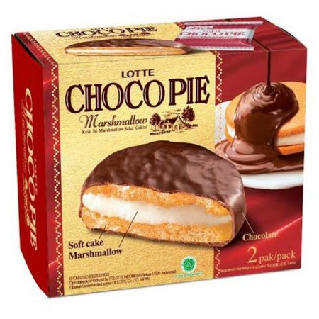 Enjoy Delicacy Of Lotte Choco Pie With A Combination Of High Quality Chocolate, Delicate Soft Cake And Fluffy Marshmallow In Every Bite. A Perfect Snack To Enjoy It With Your Family. Lotte Choco Pie Offers Three Delicacies In One Warmth.