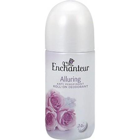 Tampil Memukau Dan Nyaman Sepanjang Hari Dengan Enchanteur Roll-On Deodorant Alluring. Wangi Floral Yang Menggoda Dan Tahan Lama, Diperkaya Dengan Formulanya Yang Cepat Kering Dan Tidak Lengket Pada Ketiak, Menjadikanmu Bebas Dari Bau Badan Dan Siap Tampi