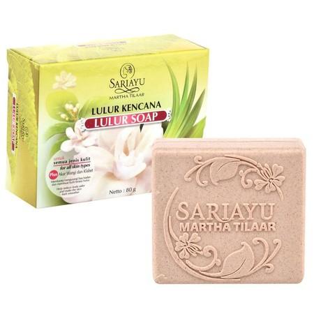 MANFAAT: Sabun kecantikan dengan butiran scrub lembut untuk menghaluskan dan mengharumkan tubuh. KANDUNGAN: Kunyit dan Akar Wangi. CARA PEMAKAIAN: Gunakan saat mandi.