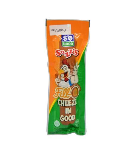 So Good Sozzis Fill-O Hot 45g dibuat dari ayam asli dan bahan-bahan pilihan lainnya sehingga menciptakan sosis siap santap yang memiliki rasa yang lezat. Berbeda sengan varian Sozzis sebelumnya, Sozzis Fill-O Cheese memiliki rasa pedas yang membuat rasany