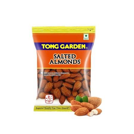 Tong Garden Salted Almond 35gr merupakan makanan ringan yang terbuat dari kacang almond dan garam, sehingga menghasilkan kombinasi gurih manis dan renyah. Terbuat dari kacang almond berkualitas tinggi dan diproses secara modern dan higienis menciptakan ci
