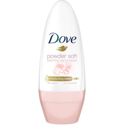 Deodorant Dove Powder Soft Melindungi Hingga 48 Jam Terhadap Keringat Penyebab Bau Badan, Dengan 1/4 Moisturising Cream Khas Dove Dan Wangi Bedak Yang Lembut Untuk Ketiak Lebih Indah Dan Mulus.    Deodoran Ini Memiliki Aroma Mewah Yang Sangat Lembut. Desa