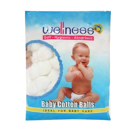 Wellness Baby Cotton Ball Is Soft, Hygenic, Absorbent . Ideal For Baby Care.