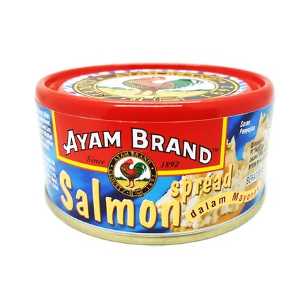 Ayam Brand Salmon Spread 160gr terbuat dari ikan salmon pilihan yang direndam dalam air garam cocok untuk digabungkan dengan segala masakan diproses secara higienis Ideal dinikmati pada saat waktu santai anda bersama keluarga.