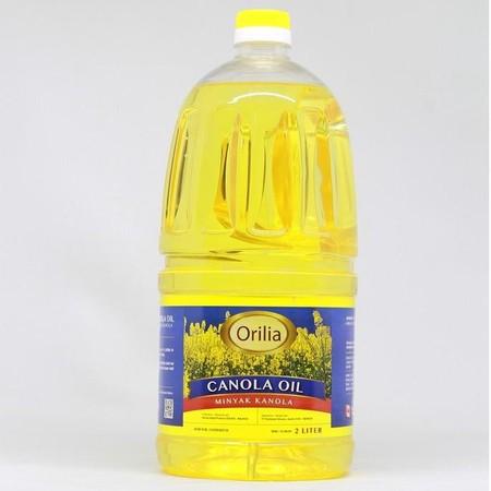 Orilia Canola Oil [2 L] merupakan minyak yang berasal dari perasan bunga canola dan mengandung omega 3 yang cukup tinggi. Memiliki smoking point (titik asap) yang tinggi sehingga sangat cocok untuk menggoreng.