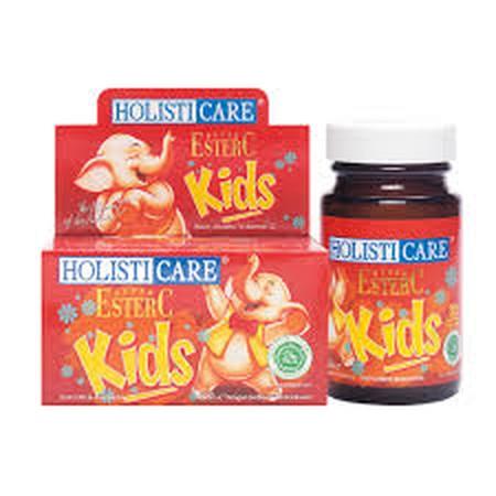 Holisticare EsterC Kids, pilihan bijak suplemen vitamin C untuk anak. Memberi semua kebaikan Ester-C untuk buah hati Anda dengan bentuk dan rasa yang disukai anak-anak dan menggunakan pemanis alami xylitol. Xylitol adalah bahan pemanis alami yang berman