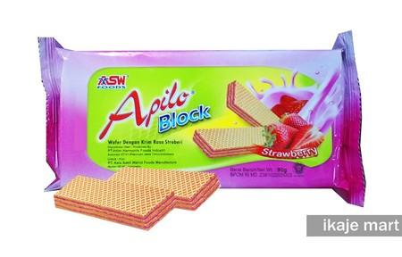 Apilo Block Wafer Merupakan Wafer Vanila Lezat Yang Gurih, Manis Dan Renyah. Tersedia Dalam Berbagai Rasa.