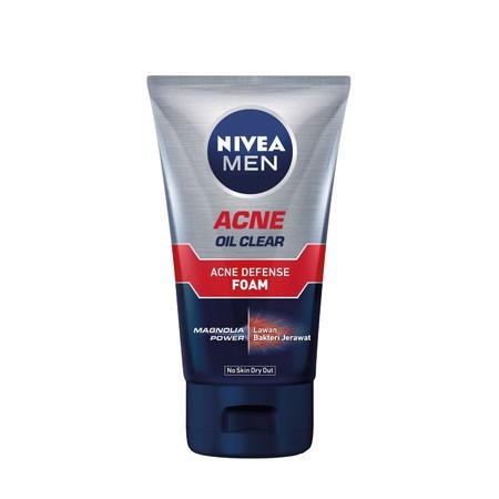 Nivea Men Acne Control Bright Foam dapat Bersihkan segala jenis kotoran dan minyak pada wajah Anda dengan Nivea Men Acne Control Brightening Facial Foam. Sabun pembersih wajah persembahan dari Nivea ini mampu bekerja 10 kali lebih baik dalam mengurangi pe