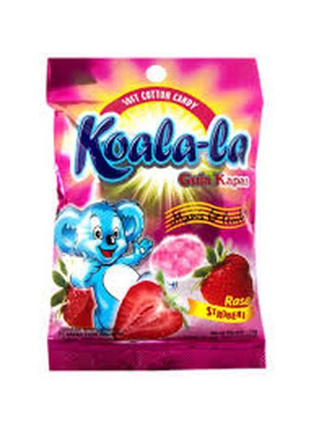 Koala-La adalah cemilan gula-gula kapas yang sehat. Karena dibuat dari 100% gula alami, dan pewarna yang berasal dari ekstrak buah asli. Jadi, aman dan enak untuk dikonsumsi.