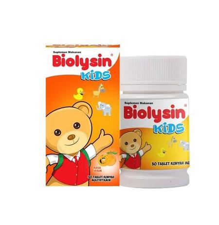 Biolysin Kids Tablet Orange adalah multivitamin yang cocok untuk anak-anak dalam masa pertumbuhan atau anak-anak yang butuh pemulihan sehabis sakit. Biolysin Kids Tablet dengan komposisi ideal dengan kandungan 9 macam vitamin dan L-Lysine HCL sebagai asam