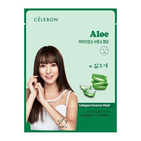 Celebon Aloe Collagen Essence Mask Merupakan Masker Wajah Berupa Lembaran Seperti Tissue Yang Mengandung Ekstrak Aloe Yang Secara Efektif Menutrisi Dan Mencerahkan Kulit Wajah. Produk Ini Membantu Menyamarkan Garis-Garis Halus Dan Kerutan. Cocok Untuk Kul