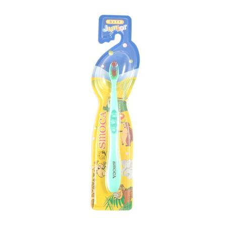 Smoca Junior Toothbrush merupakan sikat gigi yang di rancang dengan bulu sikat lembut sesuai dengan gigi dan gusi anak anda.