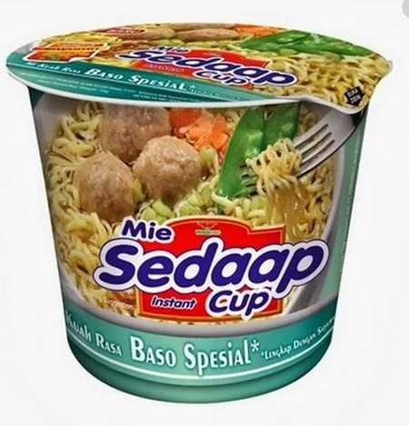 Mi Sedaap Baso Special Cup Noodles (72gr) - Baso Special also known as meatball, is made from good qualities ingredients & nutrious soy bean. Meatball soup serving with its famous springy noodles gives you double sensation of delightful taste enjoyment.