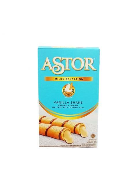 Astor Double Chocolate Tin 330Gr Merupakan Wafer Roll Vanilla Satuan Yang Bertekstur Yang Unik Dengan Kombinasi Sensasional Antara Wafer Renyah Dan Vanilla