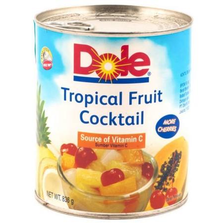 Campuran dari potongan buah-buahan tropis dengan syrup berkualitas dan sangat menyegarkan. Dikemas dalam kemasan kaleng yang berkualitas sehingga tahan karat. Import dari Philippines. Minuman siap saji.