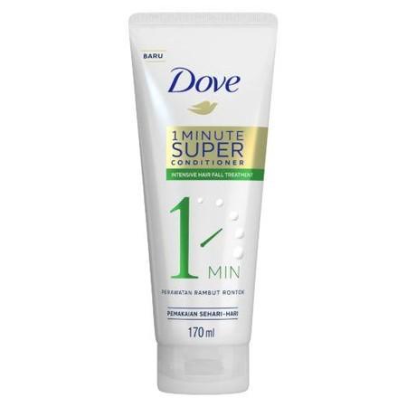DOVE 1 Minute Super Conditioner Intensive Hair Fall Treatment 170ml adalah produk conditioner yang dapat Anda gunakan setiap hari. Conditioner ini dapat Anda gunakan setelah keramas menggunakan shampoo. Conditioner akan merawat rambut dan kulit kepala And