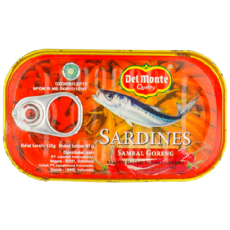 Del Monte Sardine Is Made From Selected And Good Quality Ingredients. Del Monte Sardine Helps You To Prepare Meal With World Class Quality In Convenient Way. It Is Very Healthy Consuming Del Monte Sardine As Daily Food Because Its High Nutrition Content.