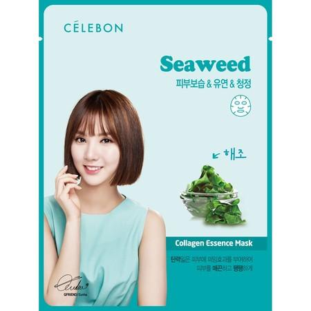 Celebon Seaweed Collagen Essence Mask Merupakan Masker Wajah Yang Memiliki Kandungan Vitamin E Dan Kolagen Memberikan Nutrisi Untuk Kulit Serta Membuat Kulit Lebih Cerah. Masker Ini Terbuat Dari Ekstrak Rumput Laut Yang Dikenal Dapat Meredakan Kerusakan T