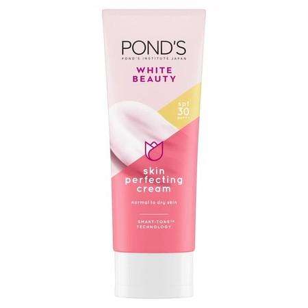 Skin Perfecting Cream   Pelembap dengan SPF 30 PA+++, memberikan 30x perlindungan lebih dari sinar UVB^ serta SMART-TONE TECHNOLOGY yang bekerja menyesuaikan dengan warna kulit untuk menyamarkan bintik hitam dan bekas jerawat  Diformulasikan dengan Gluta-