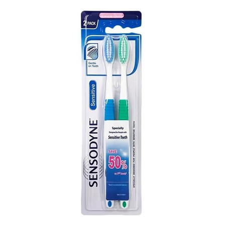 Sensodyne Tooth Brush Sensitive Soft Sikat Gigi merupakan sikat gigi yang memiliki kepala sikat lebih lebar dengan leher yang ramping sehingga dapat menjangkau area yang lebih luas di dalam mulut Dengan bulu sikat yang lebih halus berbentuk bulat dan berd