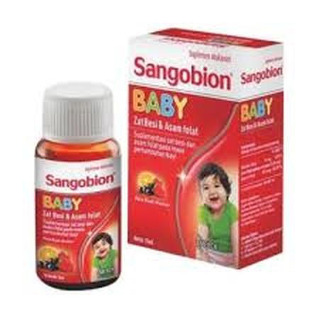 Sangobion Baby adalah suplementasi zat besi & asam folat pada masa pertumbuhan bayi. Produk ini memiliki rasa yang disukai bayi dan minim bau besi (Iron Polymaltose complex dengan rasa buah-buahan).  Mudah diserap tubuh dengan baik, tidak menyebabkan gigi
