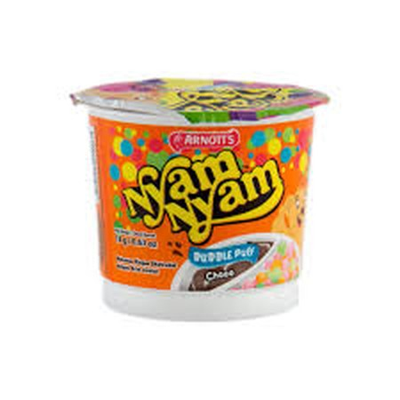 Snack times become more fun with Nyam Nyam. Dip kids favorite biscuit into yummy flavoured cream. Nyam nyam snack biskuit yang enak dengan cokelat yang lezat.